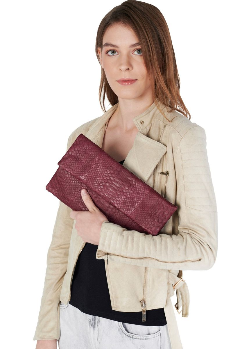 Maroon color Wallets and Clutches . Mandalay Genuine Leather Foldover Clutch -