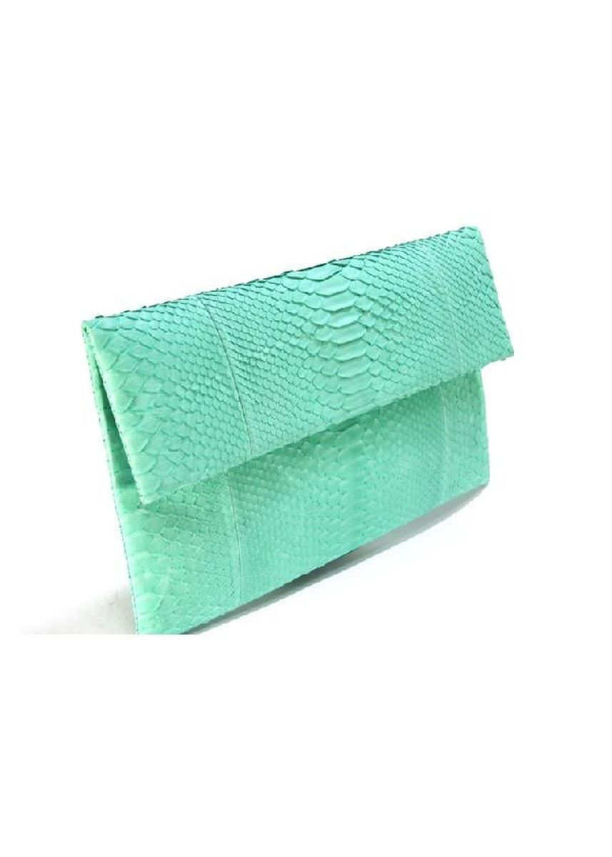 Cyan color Wallets and Clutches . Mandalay Genuine Leather Foldover Clutch -