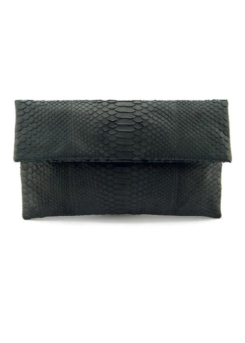 Black color Wallets and Clutches . Mandalay Genuine Leather Foldover Clutch -