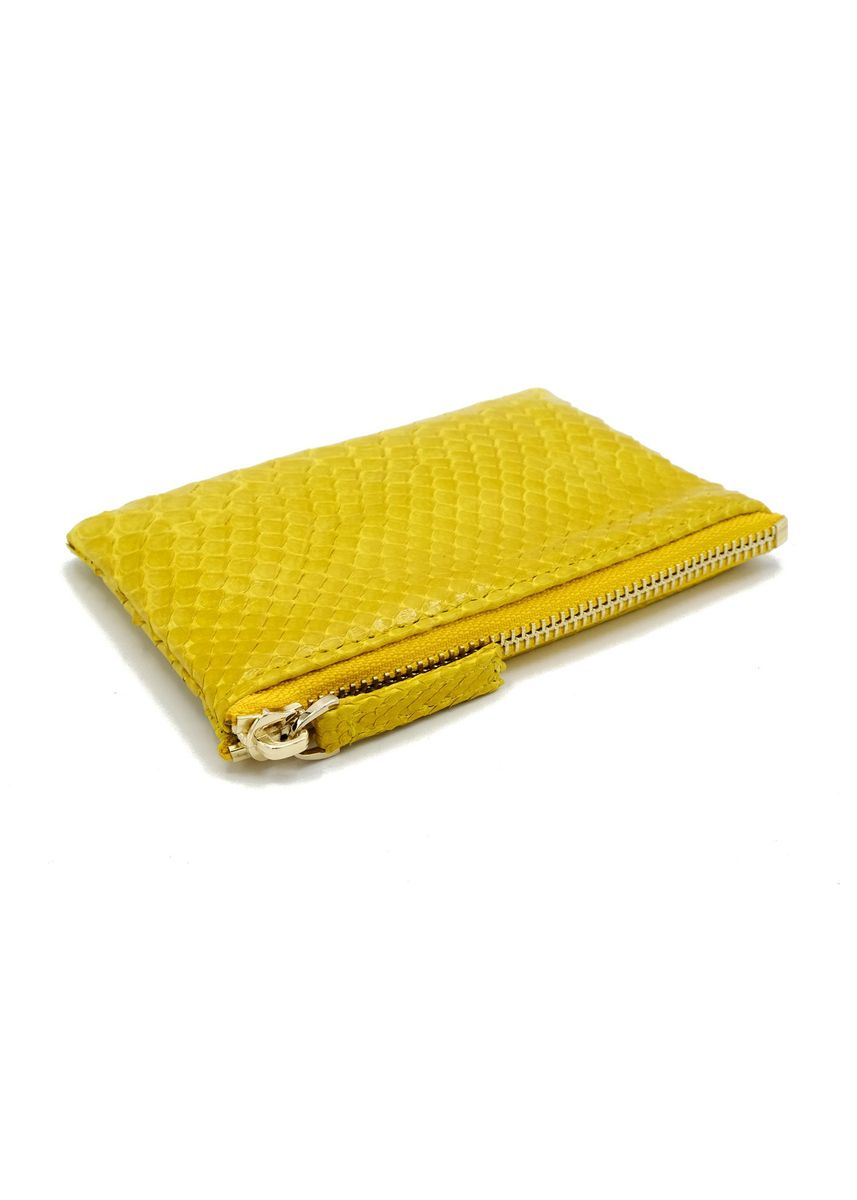 Yellow color Wallets and Clutches . Saigon Leather Coin Purse -