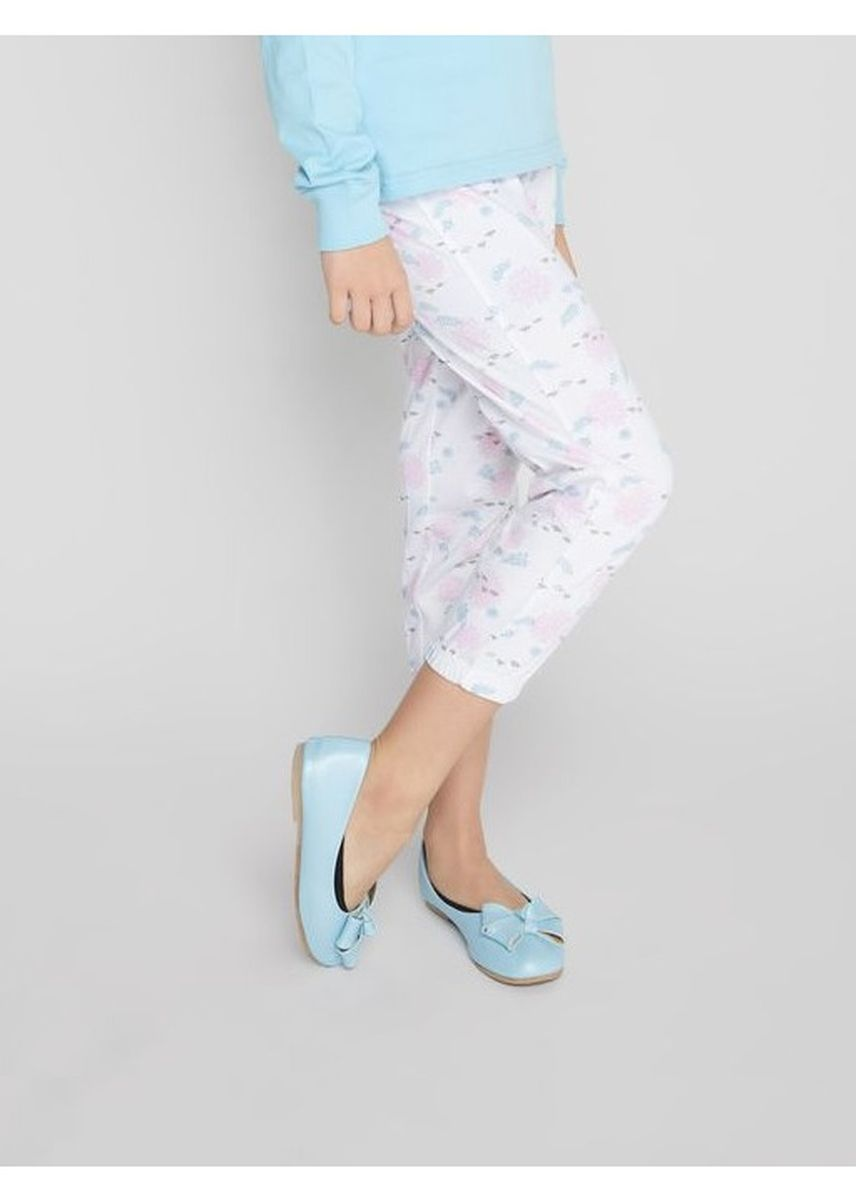 ขาว color กางเกง/กระโปรง . Official Disney's Frozen Printed Pyjamas with Cuffed Hems -