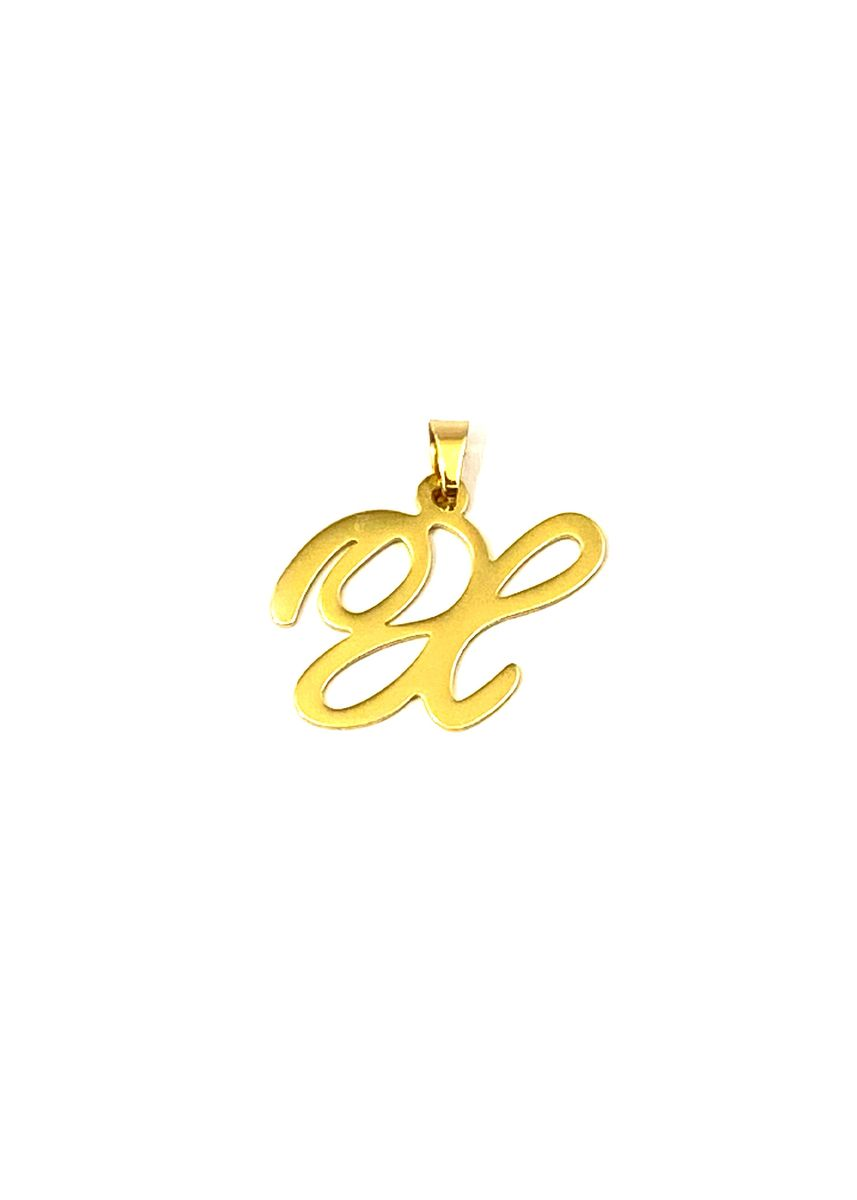 Gold color  . pflow Autograph X Pendant -