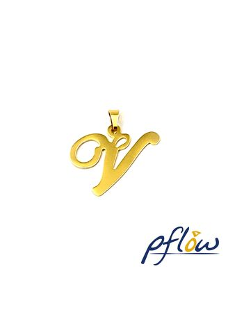 Gold color  . pflow Autograph V Pendant -