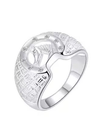 Silver color Rings . Silver Kingdom Original Italy 92.5 Horse Design Silver Ring with Stone for Men's -