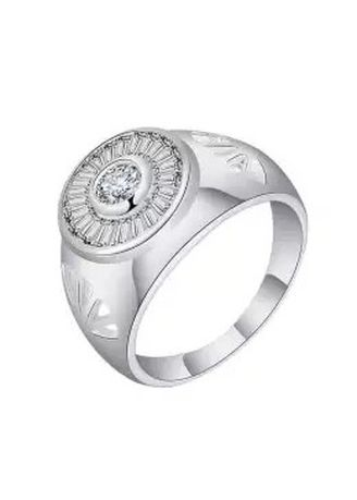 Silver color Rings . Silver Kingdom Original Italy 92.5 Silver Ring with Stone for Men's  -