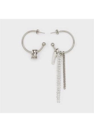 Silver color  . The Chain Earrings -