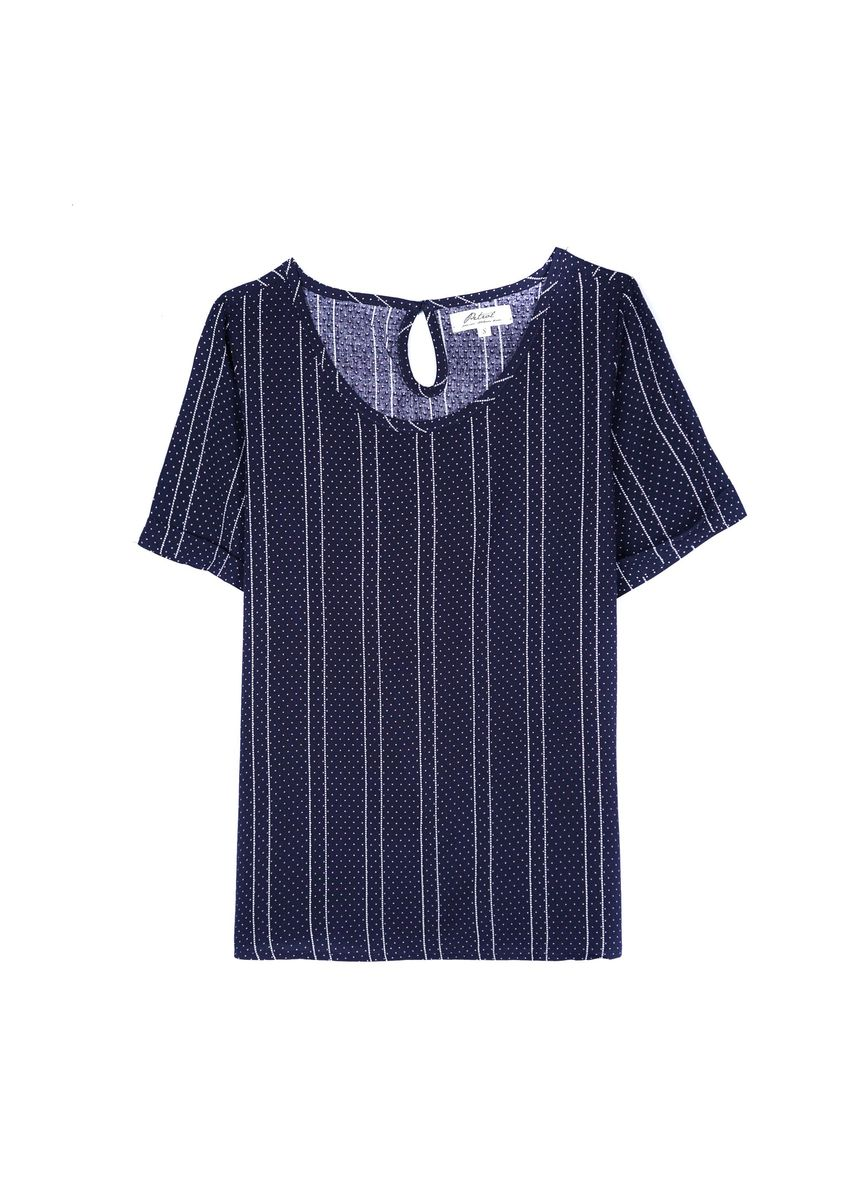 Navy color Tops and Tunics . Petrol Ladies Basic Woven Boxy Fit -