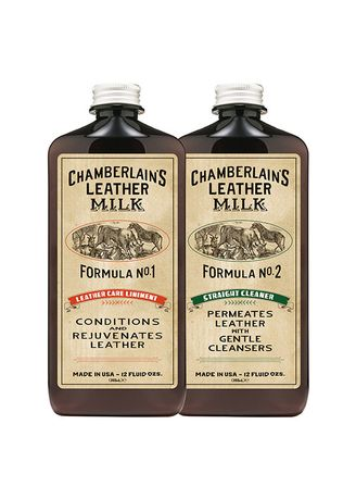 No Color color Polishes & Cleaners . Chamberlains Leather Milk -Cleaner & Conditioner Set - 12 oz -