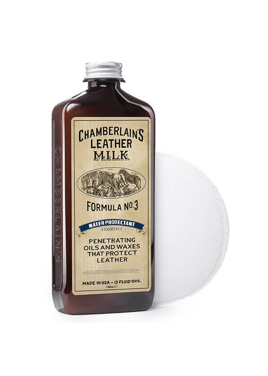 No Color color Polishes & Cleaners . Chamberlains Leather Milk - Formula No. 3 Premium Water Protectant - 6 oz -