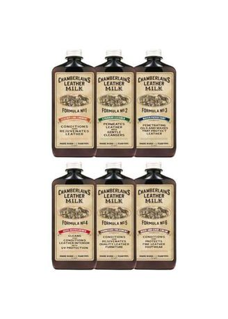 No Color color Polishes & Cleaners . Chamberlains Leather Milk Completer Care Set of 6 -