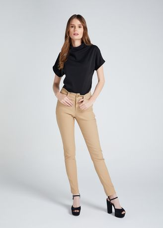 Brown color Trousers . D Fashion Engineer Wear-to-Work Stretch Pants -