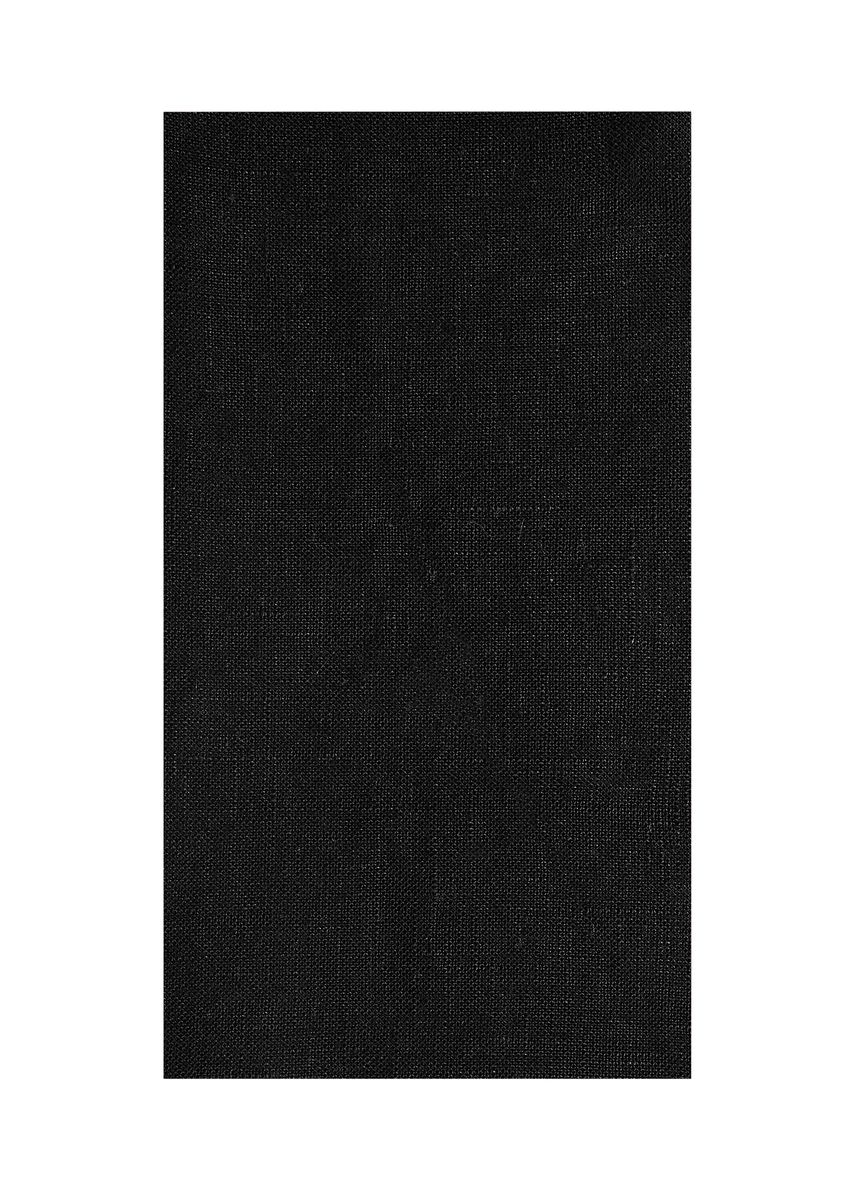 Black color  . 100% organic Linen Rs 447/meter -