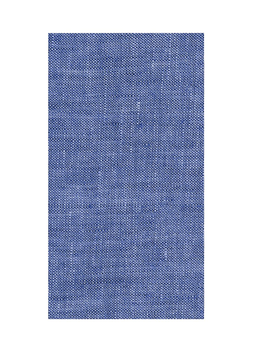Blue color  . 100% organic Linen Rs 481/meter -
