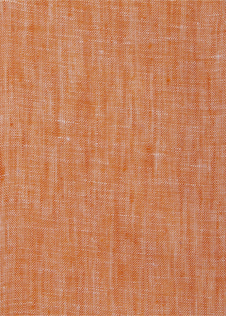 Orange color  . 100% organic Linen Rs 481/meter -