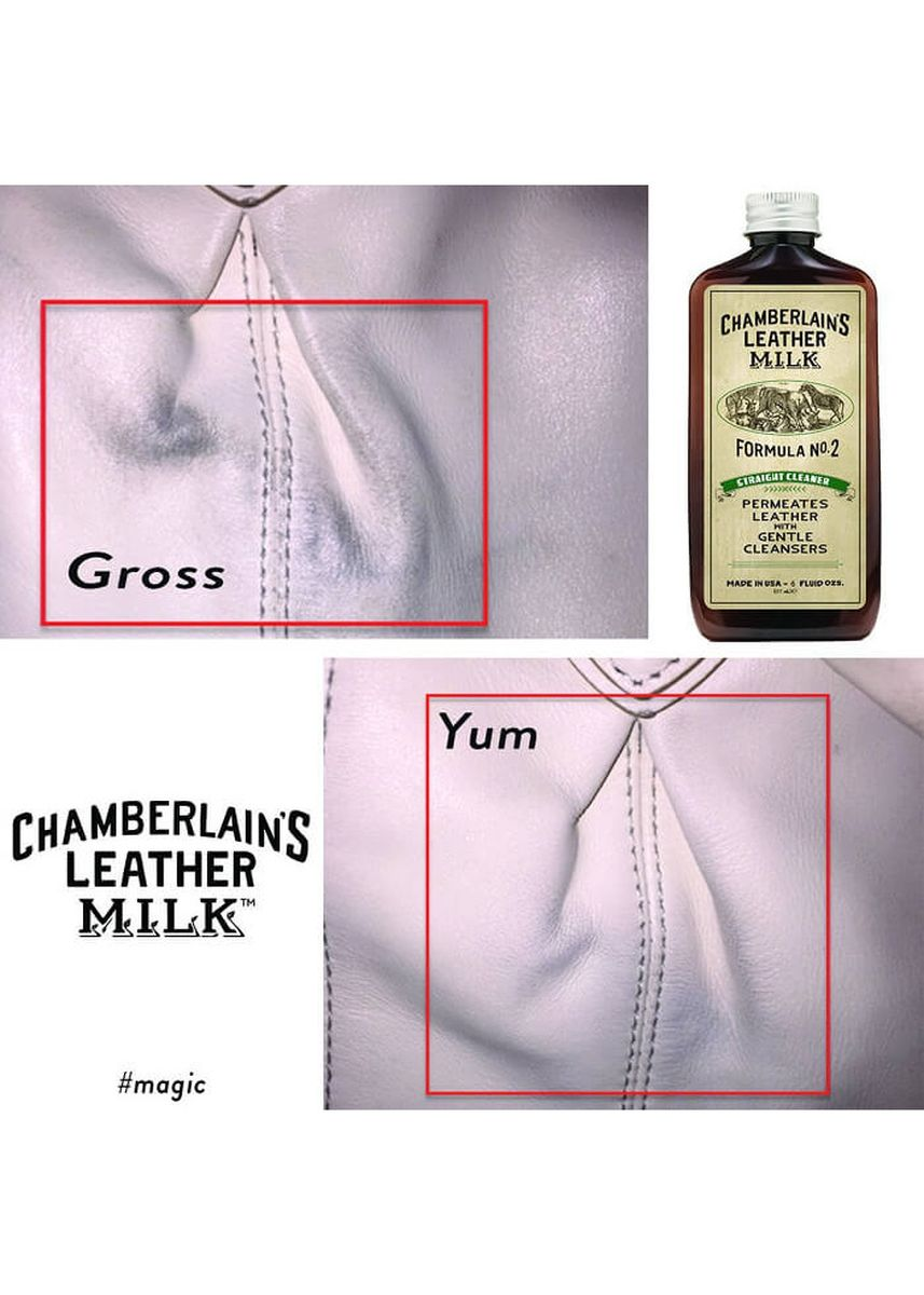 No Color color Polishes & Cleaners . Chamberlains Leather Milk - Straight Cleaner No. 2 -