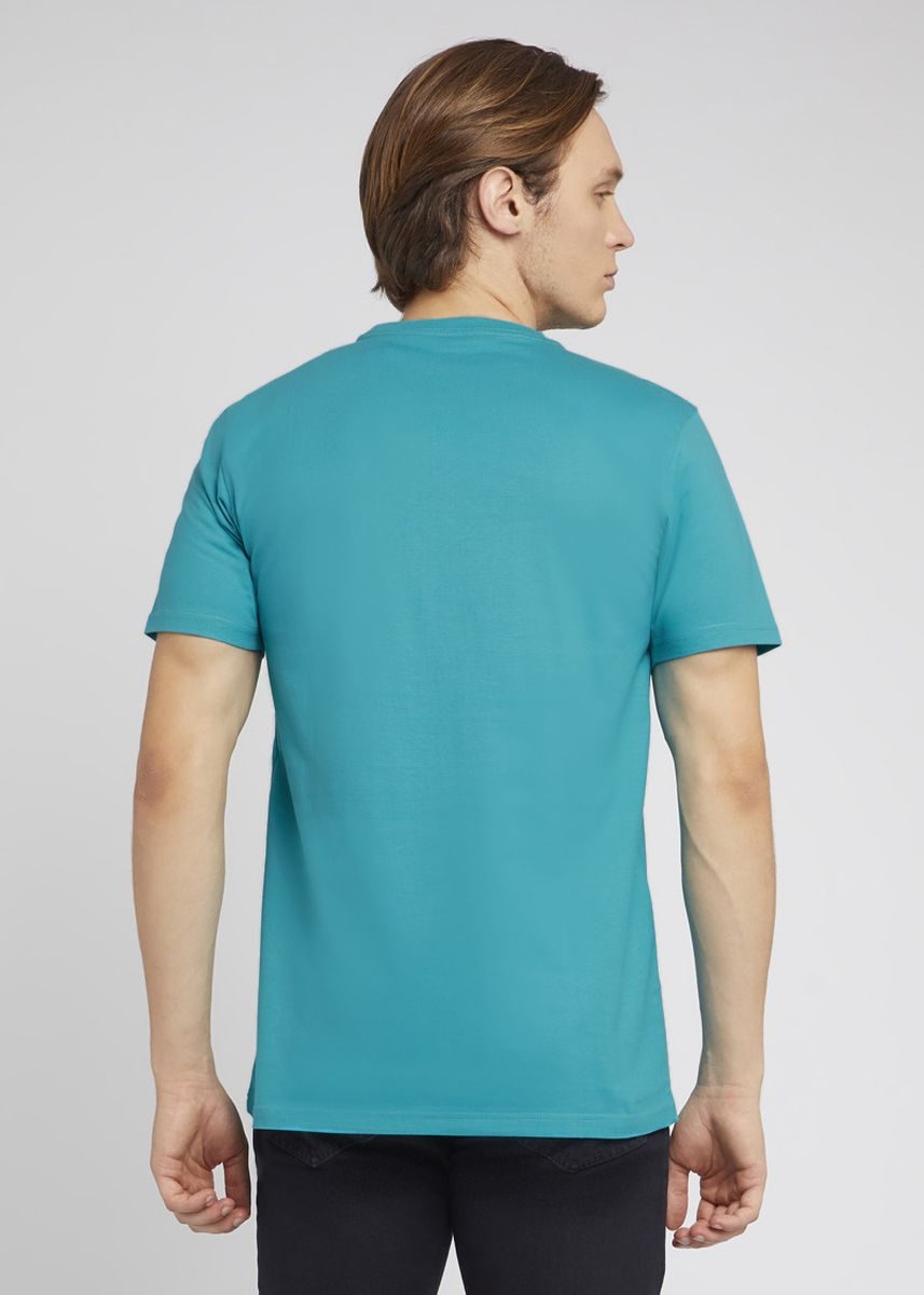 Cyan color T-Shirts and Polos . RBJ Kaos Cotton Combed Pria  -