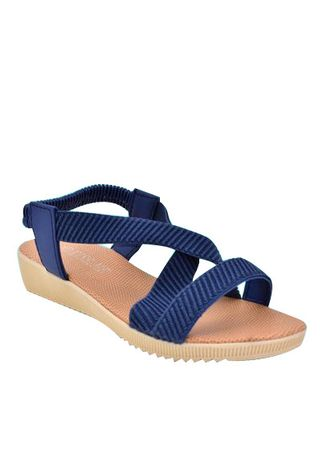 Blue color Sandals and Slippers . Khoee Namie Women's Flat Sandals Women's Sandals (Blue) -