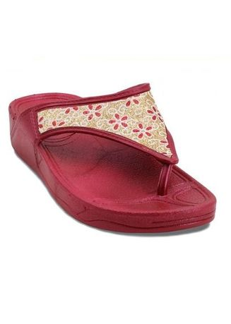 Maroon color Sandals and Slippers . Khoee Daisy Slides Flat Slippers Sandals Women's Sandals -