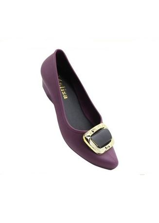Violet color Casual Shoes . Emily Women's Slip On Flat Shoes Sandals -