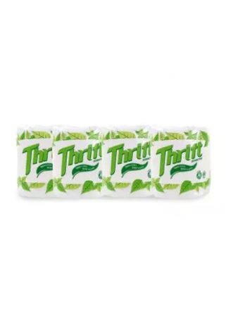 No Color color Toilet Paper . Thrift Bathroom Tissue Roll, 2 Ply, 150 Pulls (4 Rolls) -