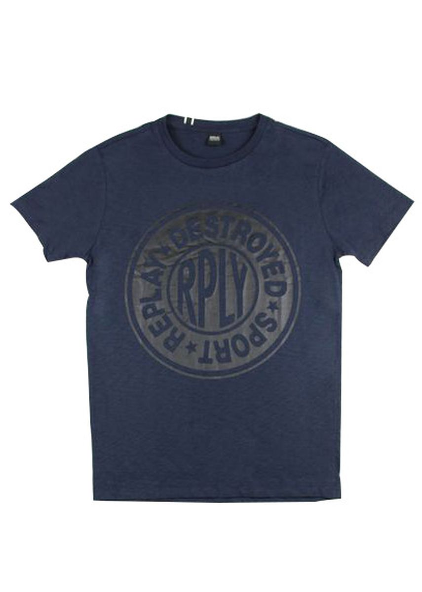 Blue color T-Shirts and Polos . Replay Men's Round Neck T-Shirt -