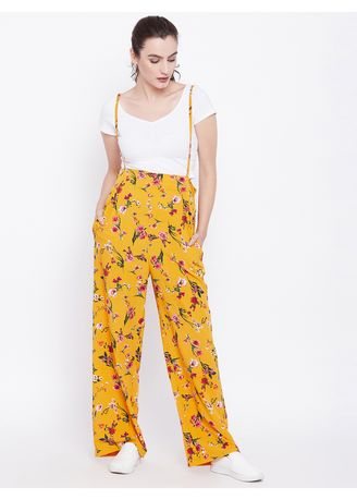 Yellow color Trousers . Mustard SUMMERCOOL Trouser -