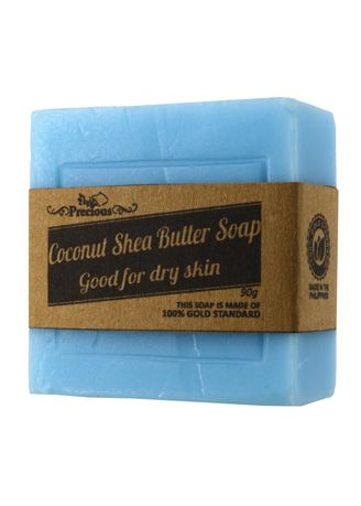 Light Blue color Body Bars . Precious Herbal Natural Shea Butter And Coconut Oil Soap, 90g -