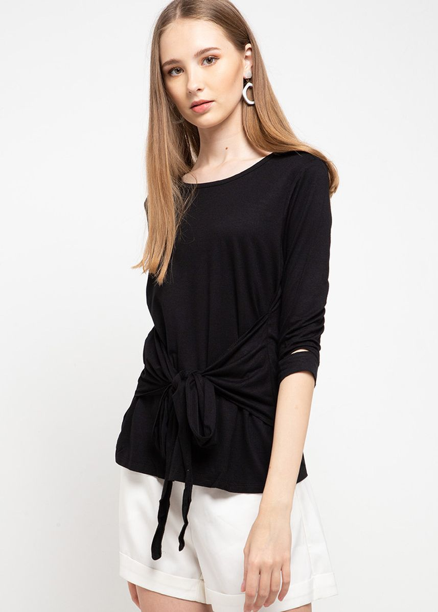 Black color Tops and Tunics . X8 Keitha Blouses -