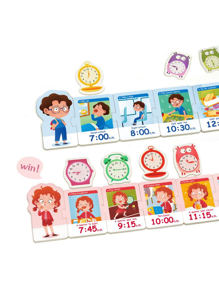 Multi color Toys . Tick-tock Clock Game (5+ yo) -