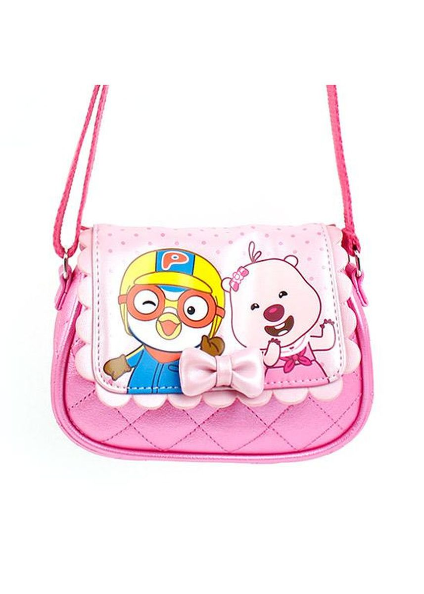 Pink color Bags . Winghouse - Pororo Quilting Ribbon Cross Bag -