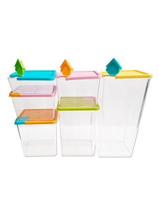 Multi color Dapur . Stackable And Space Savvy - 6 Pcs Kontainer -