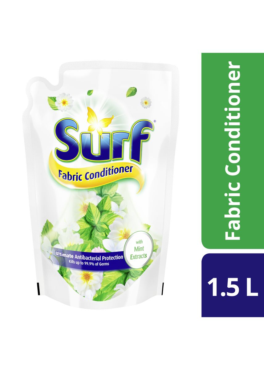 No Color color Laundry . Surf Fabric Conditioner Antibac With Mint 1.5L  -