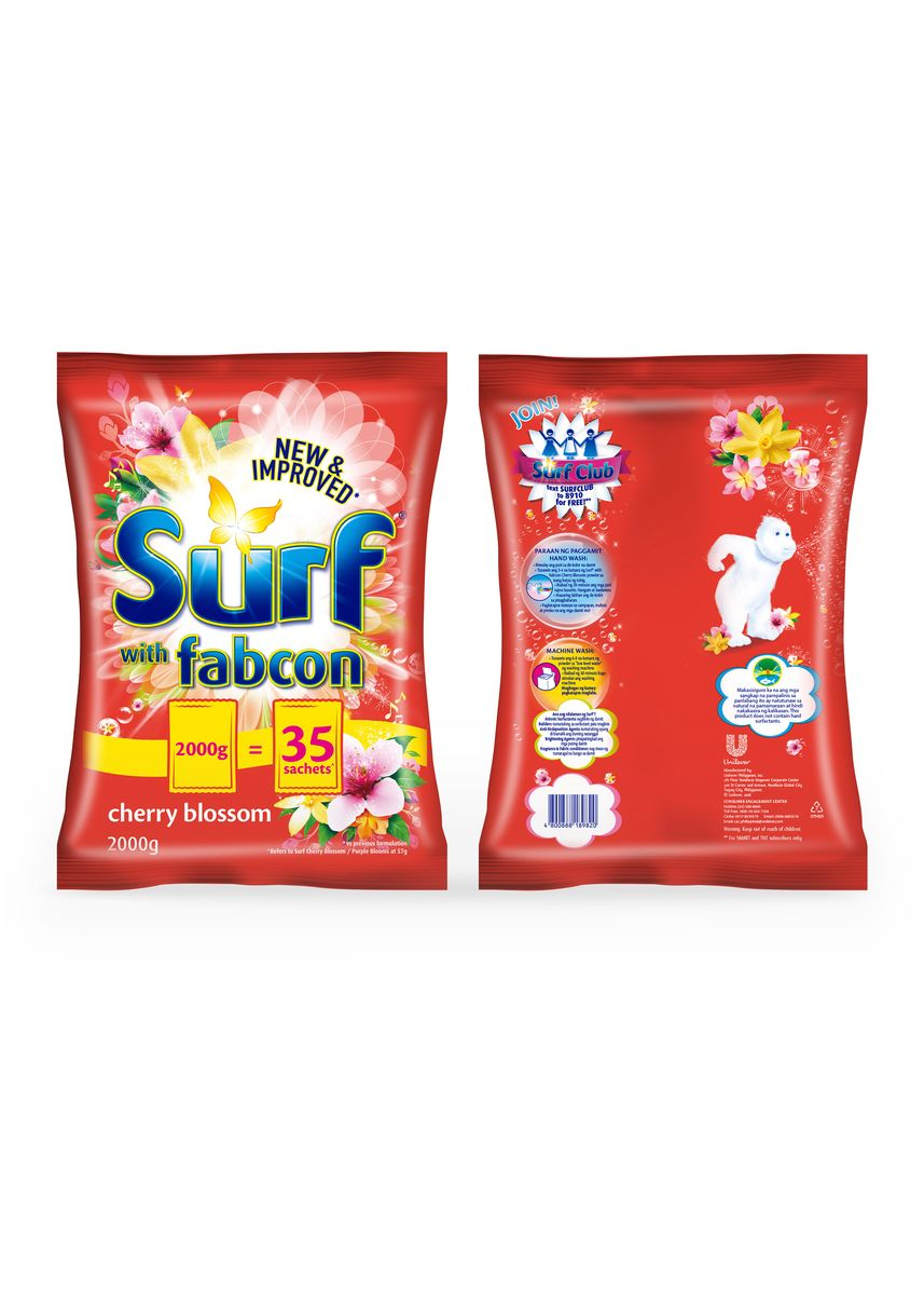 No Color color Laundry . Surf Cherry Blossom Detergent Powder 2.2Kg Special Offer X2 -