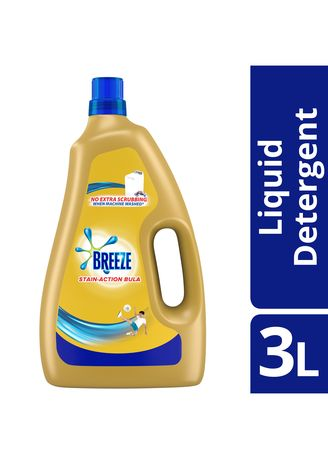 No Color color Laundry . Breeze Liquid Detergent Stain Action Bula 3L -