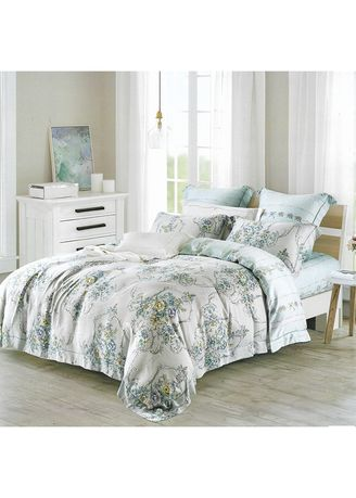 Multi color Bedroom . Osaka Set Sprei dan Bed Cover Classic Flower Organic Cotton Extra King Size -