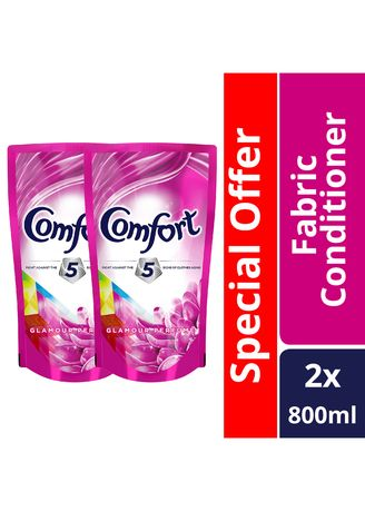 No Color color Laundry . Comfort Glamour Care Fabcon 800ml Pouch X2 Special Offer -