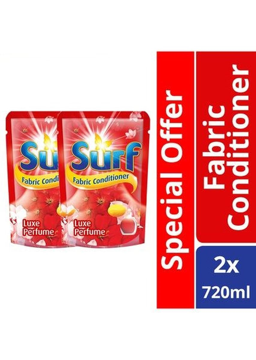 No Color color Laundry . Surf Luxe Perfume Fabric Conditioner Pouch 720ml X2 Special Offer -