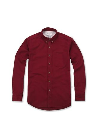 Red color Casual Shirts . TWENTYSECOND Twill Work Shirt -