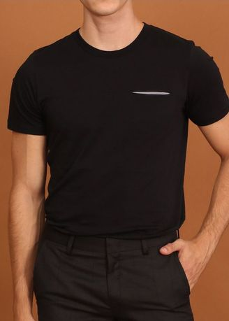 Black color T-Shirts and Polos . TWENTYSECOND Twist Pocket Tee -