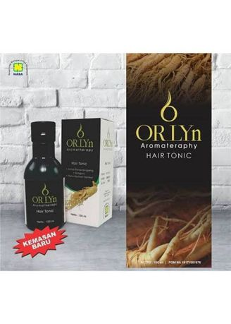 Hitam color Sampo & Kondisioner . ORLYN HAIR TONIC AROMATERAPHY  -