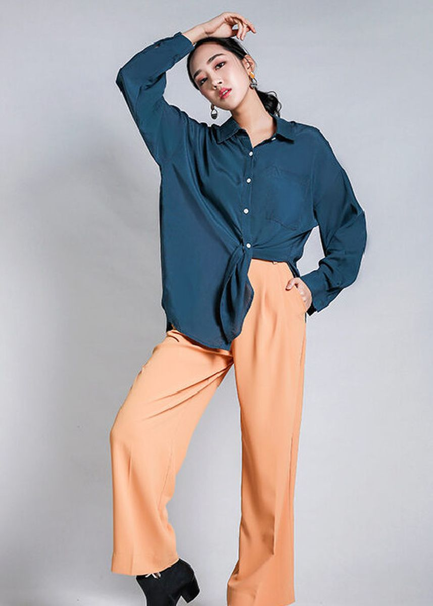 Blue color Tees & Shirts . Indre Ino Button Down Shirt -