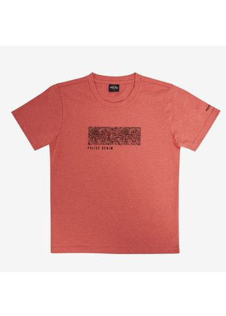 Orange color Tops . Police Kids Tshirt  -