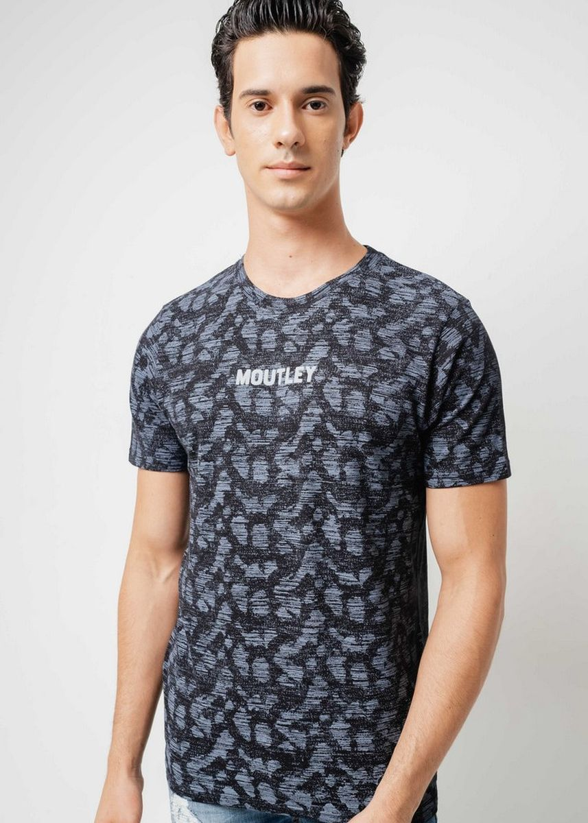 Black color T-Shirts and Polos . Moutley Men Tshirt 010420 -