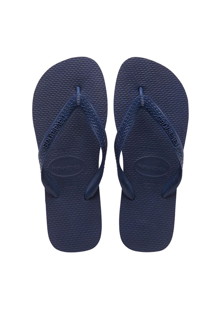 Blue color Sandals and Slippers . Havaianas Top Flip Flops - Navy Blue -