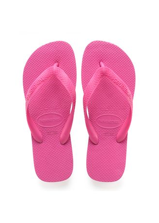 Pink color Sandals and Slippers . Havaianas Top Flip Flops - Hollywood Rose -
