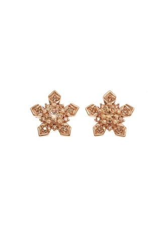 Pink color  . Aevari Collection Nature Series  Morning Dew Earrings -