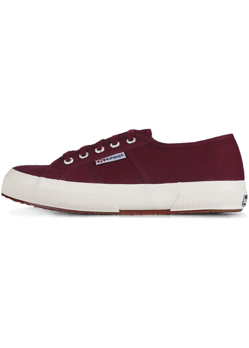 Maroon color Casual Shoes . Superga 2750 in Dark Bordeaux -