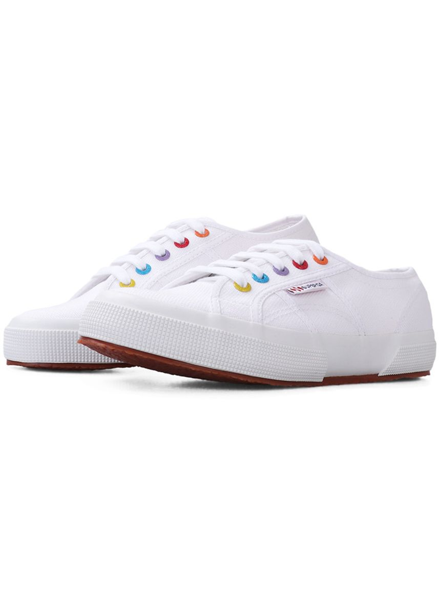 White color Casual Shoes . Superga 2750 in White-Coloured Rivets -