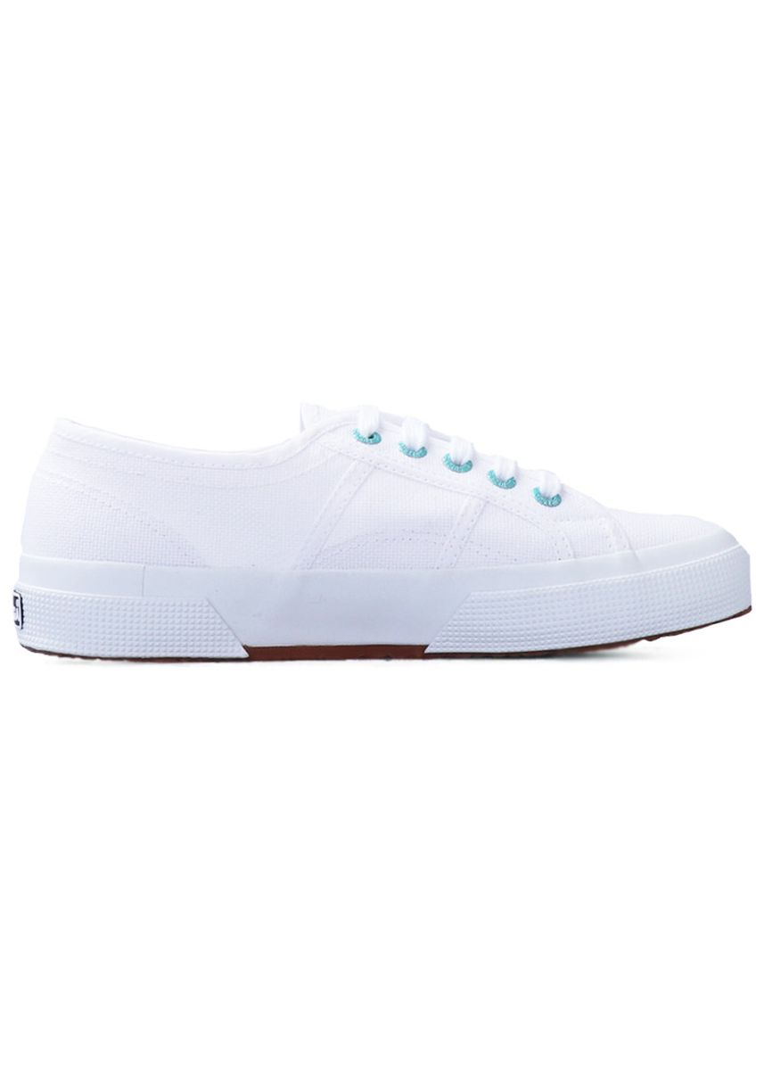 White color Casual Shoes . Superga 2750 in Coloured Rivets White-Green Water -