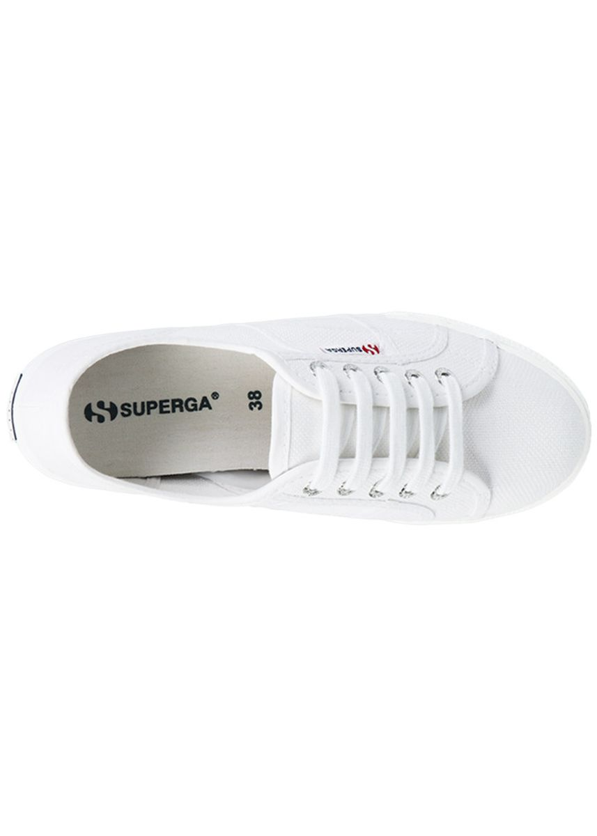 White color Casual Shoes . Superga 2790 Flatform in White -